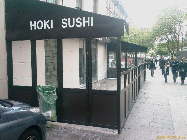 une nouvelle terrasse ferm e hoki sushi. Black Bedroom Furniture Sets. Home Design Ideas